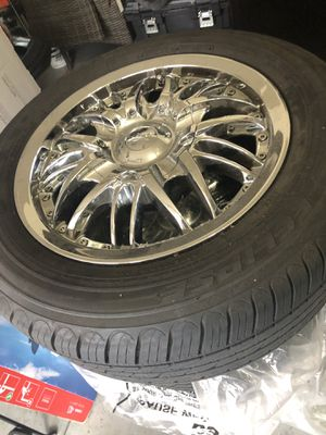 """Set of 4 15"""" tires and rims, barely used for Sale in Happy Valley, OR"""