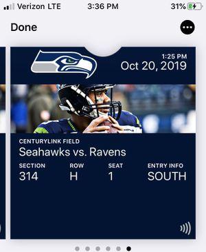 Seattle Seahawks Vs Baltimore Ravens, Earl's return for Sale in Mercer Island, WA