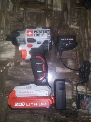 Porter cable brushless impact drill one battery and charger for Sale in Garner, NC