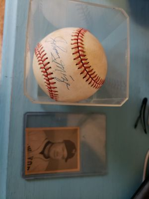 Johnny mize signed baseball and card for Sale in Lincoln, RI