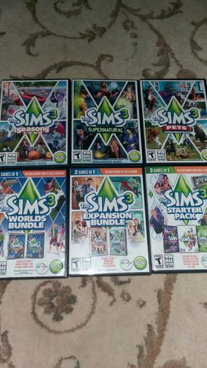 Sims 3 including the starter pack and expansion packs for Sale in Murfreesboro, TN