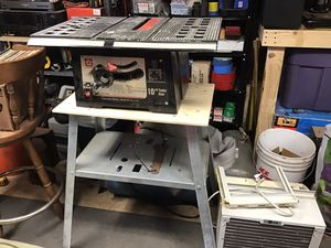 """Small footprint 10"""" Sakura brand table saw w/ stand & cover for Sale in Evergreen, CO"""