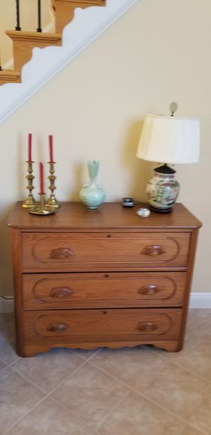 Antique walnut dresser and mirror for Sale in Leesburg, VA