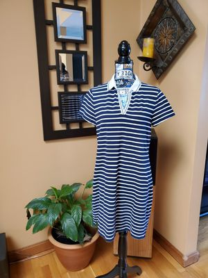 TOMMY HILFIGER BLUE & WHITE STRIPED POLO TSHIRT DRESS! for Sale in Taunton, MA