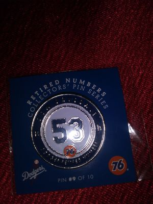 Dodgers retired number pin for Sale in Los Angeles, CA