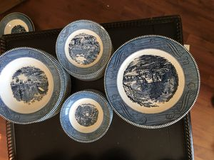 Currier & Ives dish set for Sale in Durham, NC