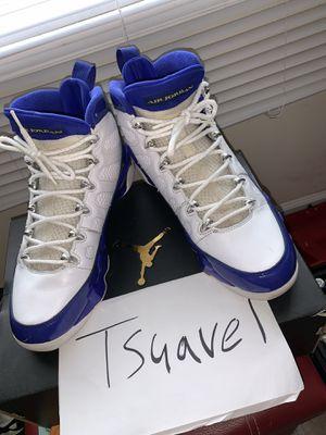 Air Jordan 9 Kobe (laker) size 9.5 for Sale in Greenville, MS