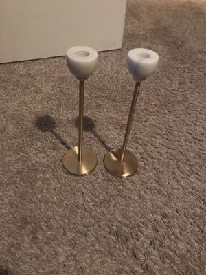 Gold and marble candle holders set for Sale in Atlanta, GA