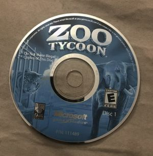 Zoo Tycoon Complete Collection - DISC 1 ONLY for Sale in Murrieta, CA