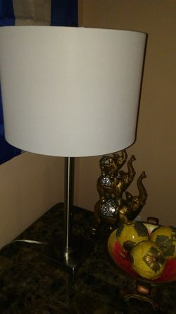 Two table lamps with steel pedestal. $25 each for Sale in Orlando,  FL