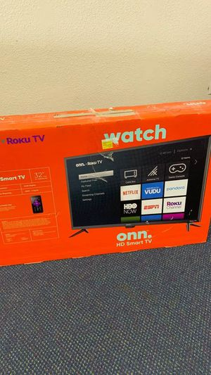 Onn Smart Tv 32 inches!! All new with warranty! Open Box TV! ROKU control! ED for Sale in Houston, TX
