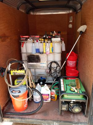 Trailer with boat and car detailing equipment for Sale in Oakland Park, FL