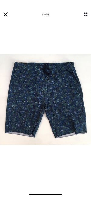 NWT Public Opinion Mens Shorts Blue/Green Print Elastic Tie Waist Sz Large for Sale in Tempe, AZ
