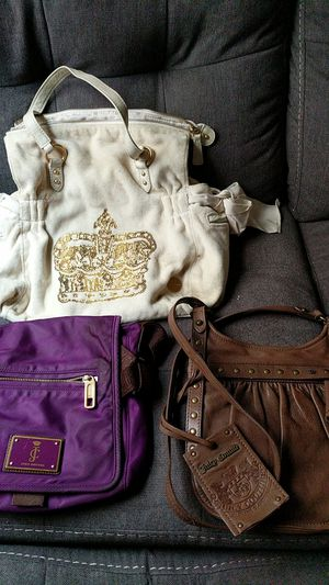 All 3 juicy couture bags 50$ for Sale in Victorville, CA