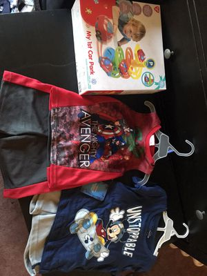 Baby boy 2 pair of outfit 3t and toy for Sale in Tacoma, WA