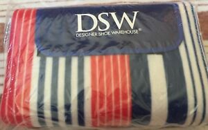 Brand NEW! DSW Red White & Blue Striped Beach / Picnic / Throw / Yoga Mat / Blanket - $12