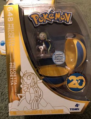 Pokemon 20Th Anniversary Quick Ball Action Figure Meloetta Toy for Sale in Lemoore, CA