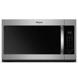 Whirlpool 1.9 cu. ft. Over the Range Microwave in Fingerprint Resistant Stainless Steel with Sensor Cooking for Sale in Moreno Valley, CA