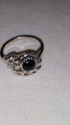 Sterling silver and black onyx ring for Sale in Boynton Beach, FL