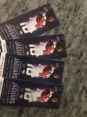 $60 ea front seat 139/DD/1-4 seat 4 tickets for Sale in Houston, TX