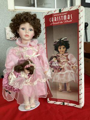 Christmas around the world porcelain doll for Sale in Bellflower, CA