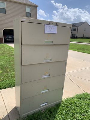 Filing cabinet Metal with working doors FREE!! for Sale in Covington, GA