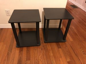 Set of 2 black end tables for Sale in Baltimore, MD