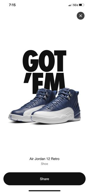 Jordan 12 Indigo Size 10.5 for Sale in Campbell, CA
