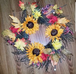 """Handmade Fall Wreath 21"""" × 21"""" for Sale in Manchester, PA"""