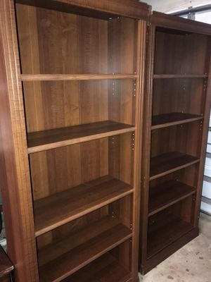 Twin wood bookshelves for Sale in Fort Lauderdale, FL