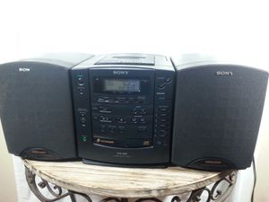 Sony boombox radio Sony portable stereo incredible sound with a built-in amp sounds better than most home systems for Sale in Kalama, WA