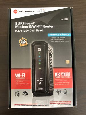 Motorola Arris Surfboard Modem & WiFi Router SBG6580 for Sale in San Diego, CA