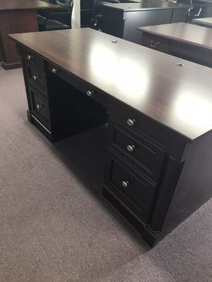 Cherry finish executive desk for Sale in Lexington, SC