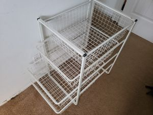 Metal Wire Closet Clothing Clothes Organizer Storage Rack Basket Shelves Drawers for Sale in West Hollywood, CA
