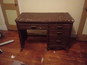 Nice wicker and wood desk for Sale in Columbia, SC