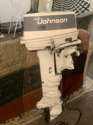 Johnson 28 SPL - outboard motor - Great condition for Sale in HUNTINGTN BCH, CA