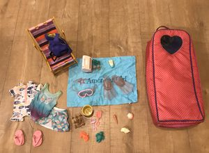 American Girl beach lot with case for Sale in Encinitas, CA