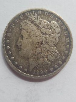1890 O Morgan Silver DOLLAR ERROR SLIGHT OFF CNTR for Sale in Chicora,  PA