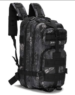 Neutral Adjustable Military Tactic Bag Backpack Nylon Hiking Dark Blue for Sale in Queens, NY