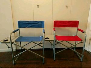 Red & Blue Folding Chairs for Sale in Pittsburgh, PA