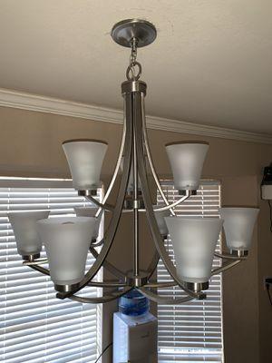 9 bulb chandelier in great shape for Sale in Broken Arrow, OK