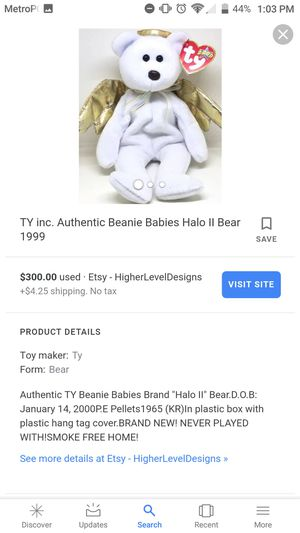 Halo II 2000 beanie baby for Sale in Jackson, NJ