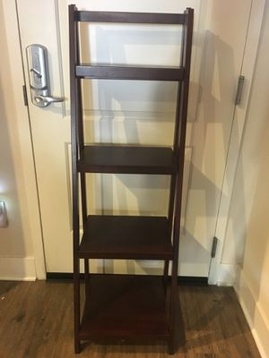 Brown wood ladder shelf for Sale in Mission Viejo, CA