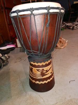 X8 Hand carved bongo drum for Sale in Seneca, SC
