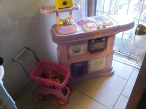 $40 play kitchen with assessories for Sale in Phoenix, AZ
