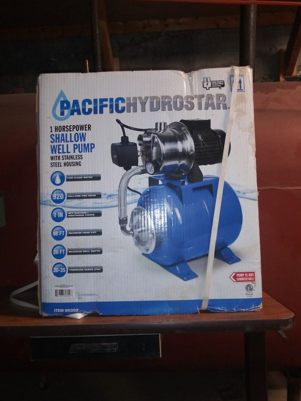 Pacific Hydrostar 1 HP Shallow Well Pump w/ Stainless Steel Housing