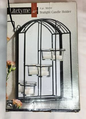 Lifetime 4 pc. Mirror Tea light Candle Holder for Sale in Sutton, MA