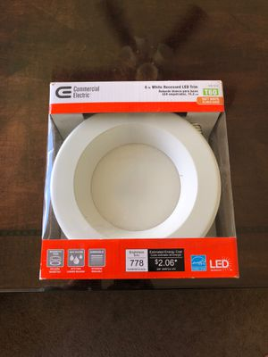 6 inch White Recessed LED trim for Sale in Waipahu, HI