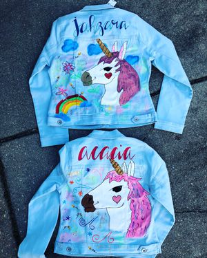CUSTOME HAND PAINTED DENIM JACKETS for Sale in Washington, DC