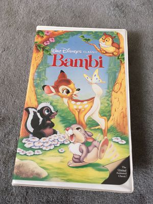 Disney Bambi VHS - Rarely Used for Sale in Spring, TX